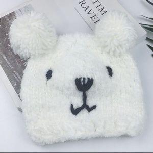 New! Polar Bear Warm Knit Beanie Hat